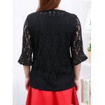 cheap Flare Sleeves Laciness Blouse