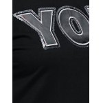 best Letter Applique Loose Sweatshirt