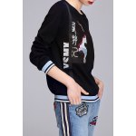 Embroidered Spliced Sweatshirt deal