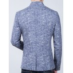 best Heathered Stand Collar Sleeve Buttons Design Blazer
