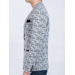 Contrast Pocket Long Sleeve Heathered Blazer for sale
