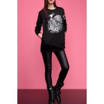 Peacoak Embroidered Pullover Sweatshirt deal