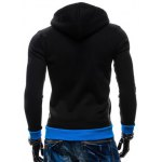 Color Splicing Zippered Drawstring Hoodie deal