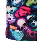 best Round Neck 3D Colorful Skull and Halloween Pumokin Print Long Sleeve Sweatshirt