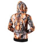 cheap Zipper Fly Tiger 3D Printed Cool Hoodie