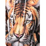 Zipper Fly Tiger 3D Printed Cool Hoodie deal