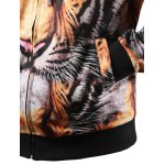 Zipper Fly Tiger 3D Printed Cool Hoodie for sale