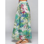 cheap High Waisted Chiffon Printed Maxi Skirt