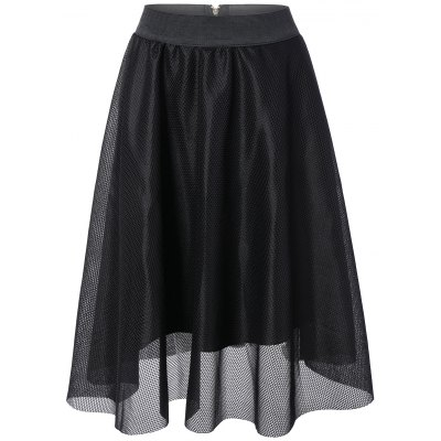 Openwork Lace Double-Deck Skirt