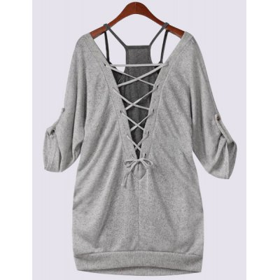 Scoop Neck Half Sleeve Lace-Up Hollow Out T-Shirt and Tank Top TwinsetPlus Size Tops<br>Scoop Neck Half Sleeve Lace-Up Hollow Out T-Shirt and Tank Top Twinset<br><br>Material: Polyester<br>Clothing Length: Regular<br>Sleeve Length: Half<br>Collar: Scoop Neck<br>Style: Casual<br>Season: Fall<br>Pattern Type: Solid<br>Weight: 0.361kg<br>Package Contents: 1 x T-Shirt 1 X Tank Top