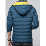 Hooded Color Block Zip-Up Padded Jacket deal