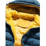 Hooded Color Block Zip-Up Padded Jacket for sale