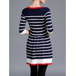 Striped Color Block Sweater Dress for sale