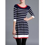 Striped Color Block Sweater Dress deal