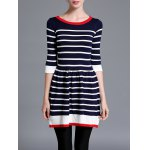 Color Block Striped Jumper Dress