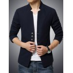 Stand Collar Single-Breasted Slimming Blazer