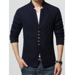 cheap Stand Collar Single-Breasted Slimming Blazer
