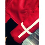 Zip Up Long Sleeve Cross Print Faux Leather Jacket for sale