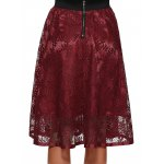 Hollow Out Lace Midi Skirt for sale
