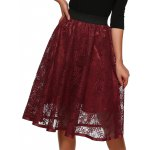 Hollow Out Lace Midi Skirt