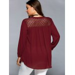 Lace Patchwork Smock Peasant Blouse deal