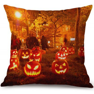 Happy Halloween Pumpkins Ghost Printed Pillow Case