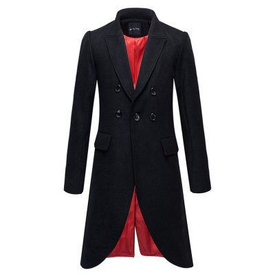 Flap Pocket Split Overcoat