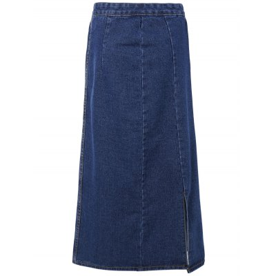 Side Split Denim Skirt