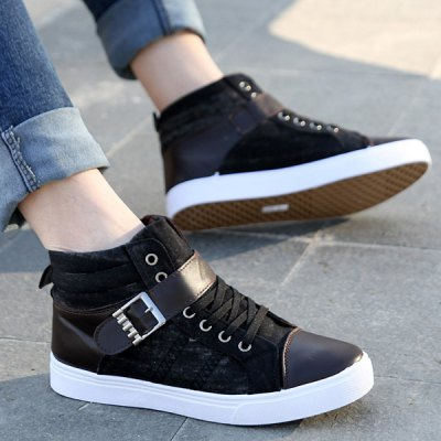 Tie Up Buckle Denim Casual Shoes
