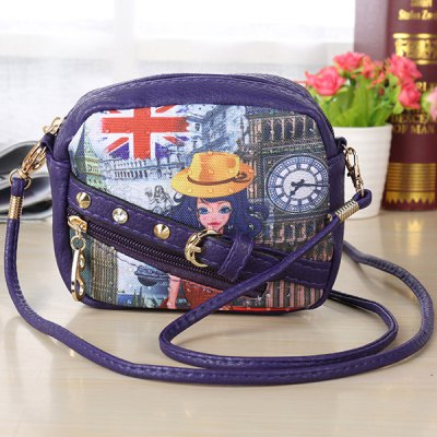 Casual Mini Figure Printed Crossbody Bag