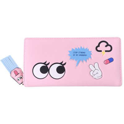 Big Eyes Cartoon Clutch Wallet
