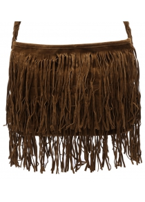 Stylish Fringe and Weaving Design Women's Crossbody Bag