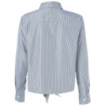 cheap Appliques Striped Tie Shirt