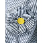 Appliques Striped Tie Shirt deal