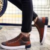 cheap Lace-Up Splicing Suede Casual Shoes