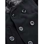 Fur Collar Button-tab Cuffs Wool Peacoat for sale
