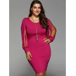 Plus Size Fringed Bodycon Dress deal