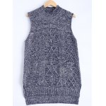 Knitted Textured Heathered Asymmetric Vest
