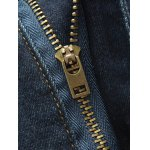 Zipper Fly Five-Pocket Scratched Jeans for sale