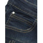 Zipper Fly Five-Pocket Scratched Jeans deal