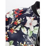Floral Print Zip Up PU Leather Jacket deal