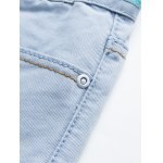 Plus Size Zipper Fly Bleach Wash Design Slimming Narrow Feet Jeans for sale