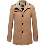 Plush Lined Epaulet Design Button-tab Cuffs Coat