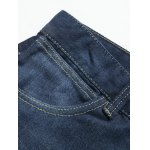 Plus Size Zipper Fly Pockets Design Slimming Narrow Feet Jeans for sale