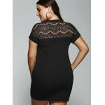 Plus Size Lace Insert Pocket Design Dress for sale