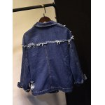 cheap Distressed Jean Jacket