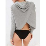 cheap Casual Back Slit Hoodie