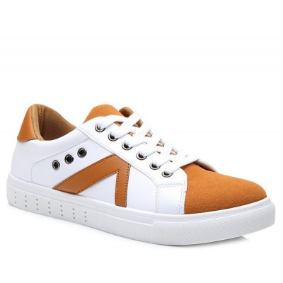 Color Block Lace-Up Casual Shoes