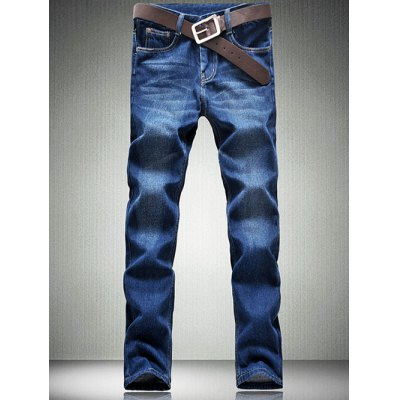 Five-Pocket Straight Leg Jeans