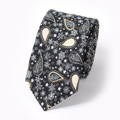Paisley and Snowflake Pattern 6CM Width Tie